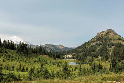 Photograph - Looking Down At Tipsoo Lake From Naches Peak Loop by Belinda Greb
