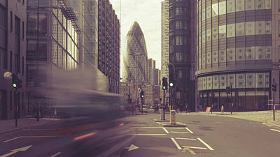 Photograph - Looking Down Bishopsgate A10 London by Jacek Wojnarowski