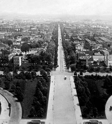Washington Dc Street Scene Photograph - Looking Down East Capitol Street From The Dome Of Capitol Building - Washington Dc - C 1890 by International  Images