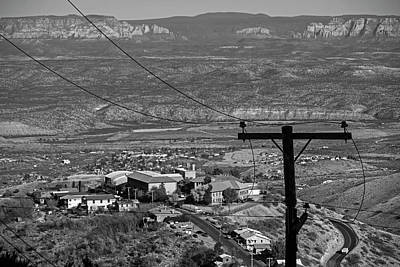 Photograph - Looking Down From Jerome Az Arizona Black And White by Toby McGuire