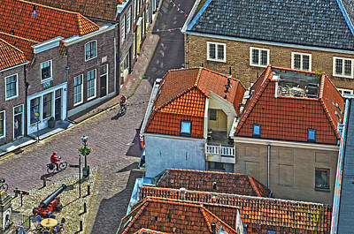 Looking Down From The Church Tower In Brielle Art Print by Frans Blok