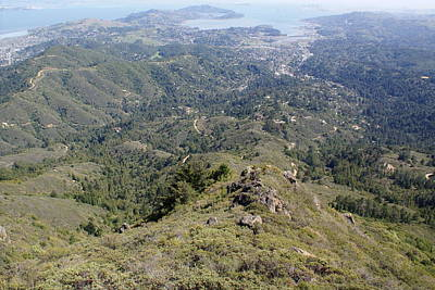 Photograph - Looking Down From The Top Of Mount Tamalpais by Ben Upham III