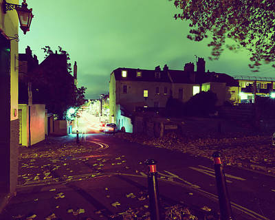 Photograph - Looking Down Hope Chapel Hill And Hotwell Road Bristol By Night by Jacek Wojnarowski