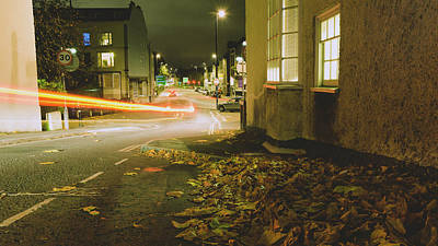 Photograph - Looking Down Hope Chapel Hill Bristol By Night B by Jacek Wojnarowski