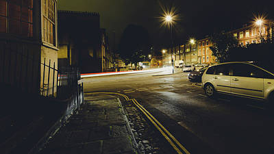 Photograph - Looking Down Hotwell Road Bristol By Night From Dowry Square by Jacek Wojnarowski