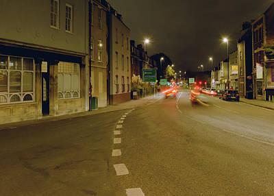 Photograph - Looking Down Hotwell Road Bristol By Night by Jacek Wojnarowski