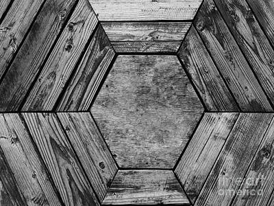 Photograph - Looking Down Into A Hexagonal Wooden Bucket - Anchorage, Alaska by Merton Allen