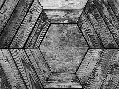 Photograph - Looking Down Into A Hexagonal Wooden Bucket - Anchorage, Alaska by Merton Allen