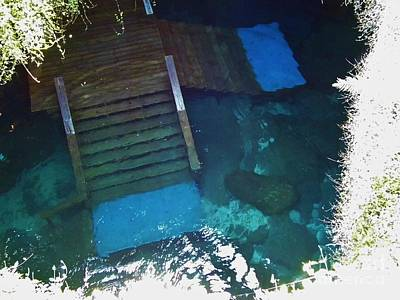 Mystifying Photograph - Looking Down Into The Cenote by D Hackett
