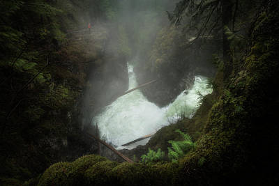 Photograph - Looking Down Into The Falls by Adam Gibbs