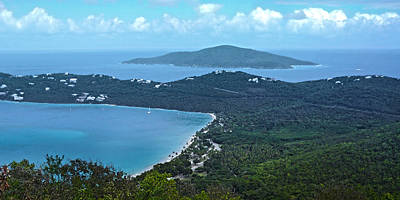 Photograph - Looking Down On A Tropical Bay by Judy Hall-Folde