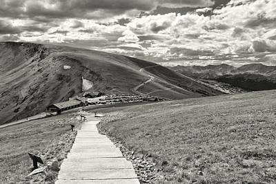 Photograph - Looking Down On Alpine Visitor Center by Dan Sproul