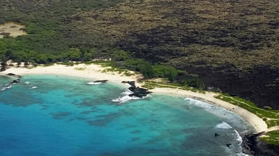Photograph - Makalawena Beach From The Air by Pamela Walton