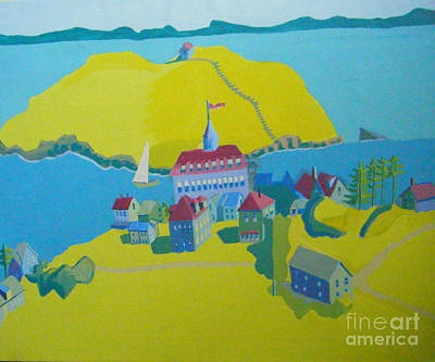 Looking Down On Monhegan And Manana Islands Print by Debra Bretton Robinson