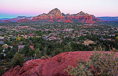 Photograph - Looking Down On Sedona From Airport Mesa Sunrise 2 by Toby McGuire