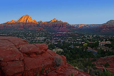 Photograph - Looking Down On Sedona From Airport Mesa Sunrise by Toby McGuire