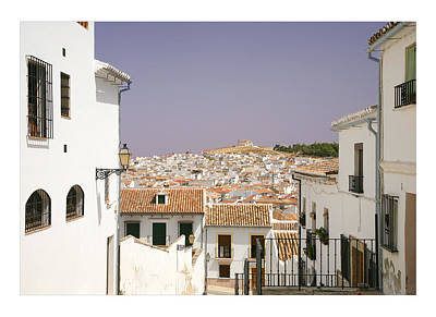 Looking Down Over Antequera  From Near The Church Of Santa Maria La Mayor  Art Print by Mal Bray