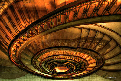 Looking Down The Ponce Stairs Opened In 1913 Art Print by Reid Callaway