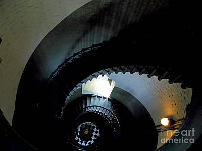 Photograph - Looking Down The Spiral Staircase by D Hackett
