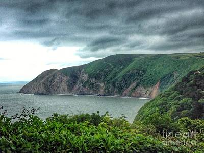 Photograph - Looking Down To Lynmouth by Joan-Violet Stretch