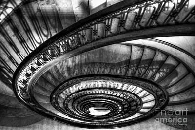 Photograph - Looking Down Too The Ponce Stairway Atlanta Ga Art by Reid Callaway