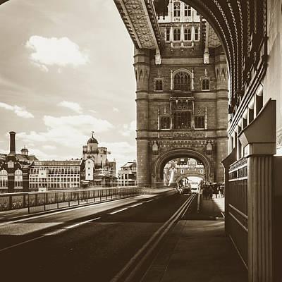 Art Print featuring the photograph Looking Down Tower Bridge London by Jacek Wojnarowski