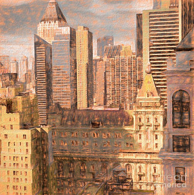 Mixed Media - Looking Downtown, Chalk by Susan Lafleur