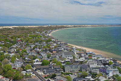 Photograph - Looking East From Pilgrim's Monument In Provincetown, Massachuse by Walter Rowe