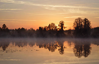 Photograph - Looking East To The Sunrise Across Alligator Lake by rd Erickson