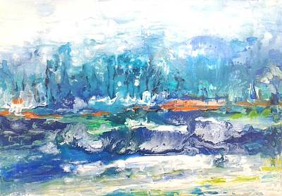 Painting - Looking For A Place To Land by Joy Fahey