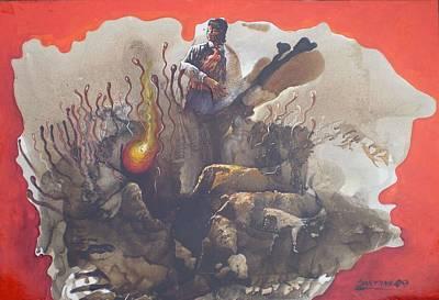 Tamayo Mixed Media - Looking For The Origin Of Life by Joe Santana