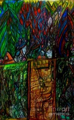 King Tut Painting - looking for Tut by Stephanie Zelaya