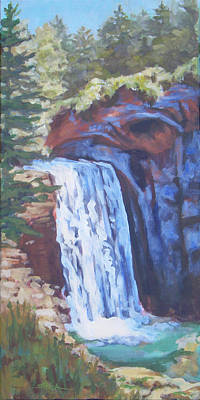 Painting - Looking Glass Falls by Carol Strickland