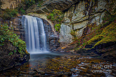 Looking Glass Falls In The Blue Ridge Mountains Brevard North Carolina Art Print