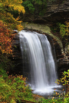 Photograph - Looking Glass Falls In The Fall by Jill Lang