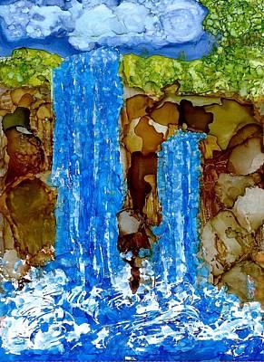 Joy Dorr Painting - Twin Falls by Joy Dorr