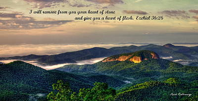Looking Glass Rock Scripture Art Art Print by Reid Callaway