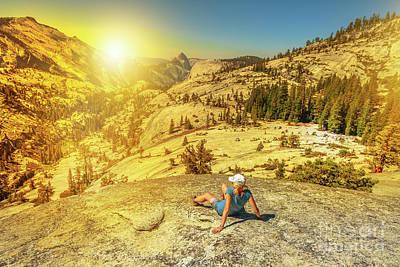 Photograph - Looking Half Dome At Sunset by Benny Marty