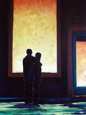 Looking In Looking Out Art Print by Richard T Pranke