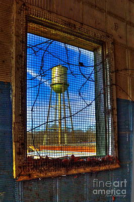 Photograph - Looking Inside Out Mary Leila Cotton Mill by Reid Callaway