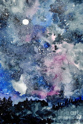 Painting - Looking Into The Heavens For Answers by Eunice Miller