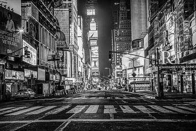 Photograph - Looking Into Times Square Nyc by John McGraw