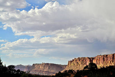 Photograph - Looking North Along Capitol Reef by Ray Mathis