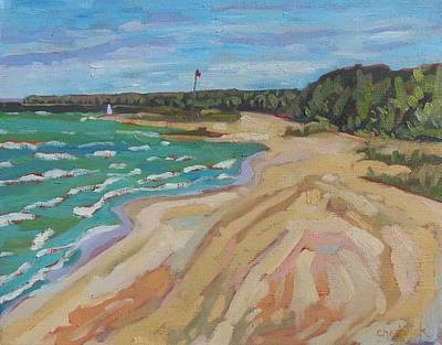Painting - Looking North Southampton Beach by Phil Chadwick