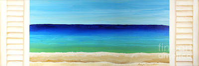 Painting - Looking Out At The Sea by Robyn Saunders