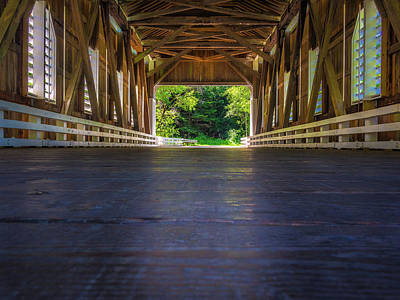 Mosby Photograph - Looking Out Dorena Bridge by Michele James