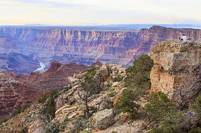Looking Out From Lipan Point Art Print