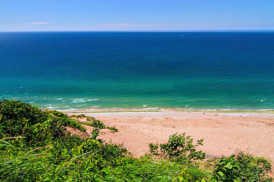 Photograph - Looking Out From Sleeping Bear Dunes by Dan Sproul