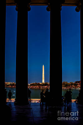 Photograph - Looking Out From The Jefferson Memorial by Nick Zelinsky
