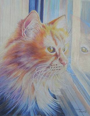 Colored Pencil Painting - Looking Out by Golanv  Waya
